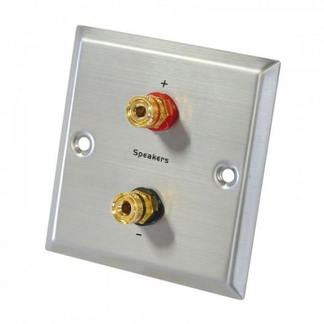 Stainless steel single banana gold plated terminal block