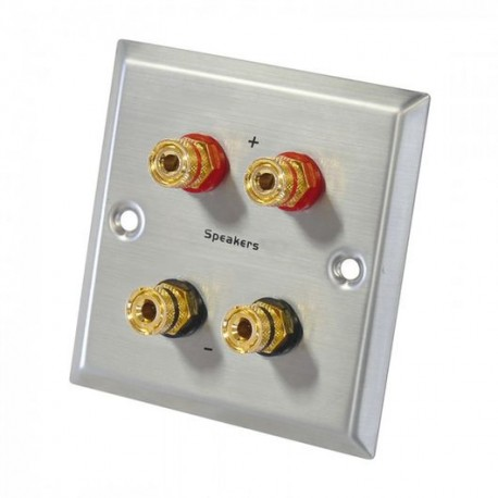 Stainless steel banana double gold plated terminal block